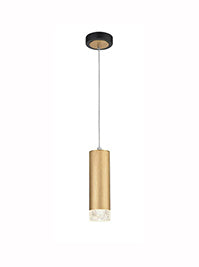 FLF3415-1G Eileen 1 Light Pendant in Brushed Satin Gold and Black