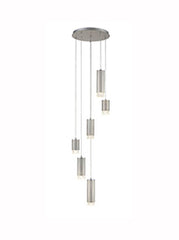 FLF3415-6SN Stairwell Ceiling Pendants & Ceiling Statement Pieces