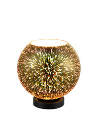 FLF3436-TLG Eleanor Table Light in Black With 3D Infinity Effect Gold Glass