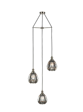 FLF3475-3SSSNF June 3 Light Fitting in Satin Nickel Finish