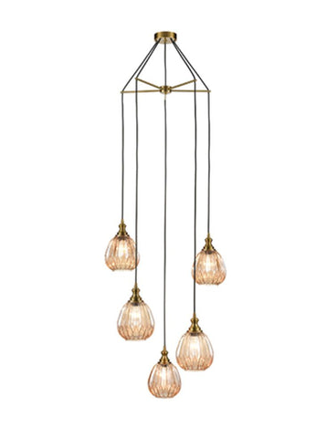 FLF3475-5SAF June 5 Light Fitting in Bronze Finish