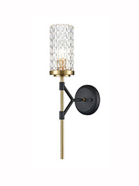 FLF3531-WL May 1 Light Wall Bracket in Matt Black and Gold Finish