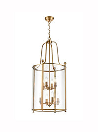 FLF3537-8AG Melodie 8 Light Lantern in Antique Gold Finish