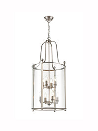 FLF3537-8SN Melodie 8 Light Lantern in Satin Nickel Finish