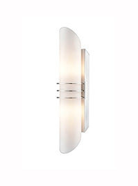 FLF3552 2 Light Wall Light in Chrome Finish IP44