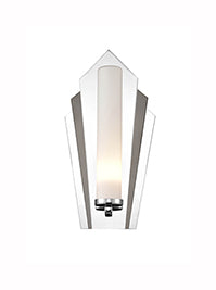 FLF3553 Art Deco Wall Light in a Combination Of Chrome and Black Chrome IP44