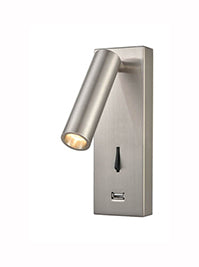 FLF3560 LED Wall Light in Satin Nickel Finish