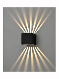 FLF3687 Exterior 6w LED Wall Light in Matt Black Cast Aluminium.
