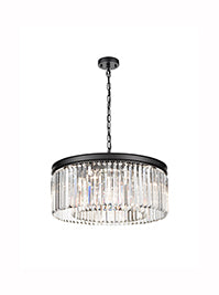 FLF3698-8B Skyler 8 Light Pendant Finished Black