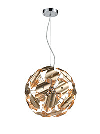FLF3711-5 Jane 5 Light Gold Pendant