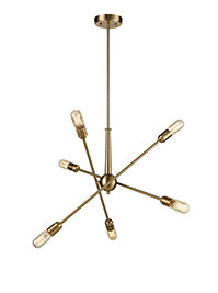 FLF3714-6 Vera 6 Light Matt Gold Finish Modern Adjustable Fitting