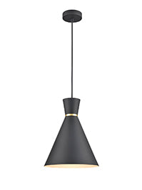 FLF3730-CS Coral 1 Light Pendant in Black