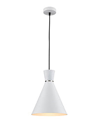 FLF3730-WS Coral 1 Light Pendant in White