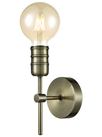 FLF3731-1A Darcey Single Wall Light in Antique Brass