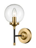 FLF3732-1 Delphine Wall Light in Antique Gold & Matt Black
