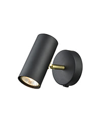 FLF720-2WL Winnie 1 Light Modern Black and Gold Decorative Spotlight