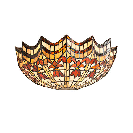 FLIN0015-WL Ludovica 1lt Tiffany Wall Light