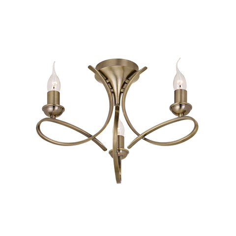 FLIN0224-3B Viola brushed brass 3lt Semi flush