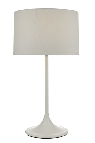 Dar Lighting FUN4239 Funchal Table Lamp Grey With Shade
