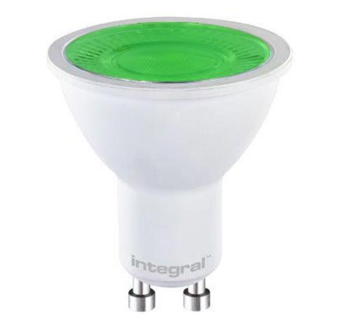 FUS0026 GU10 5W Green Non-Dimmable Lamp