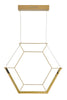 Dar Lighting HEX0135 Hexagon 1lt Pendant Gold LED