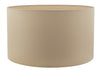 Dar Lighting HIL1629 Hilda 40cm Faux Silk Shade Taupe
