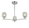 Dar Lighting IDI5350 Idina 3 Light Semi Flush Polished Chrome