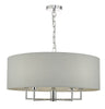 Dar Lighting JAM0539 Jamelia 5lt Pendant Polished Chrome & Grey