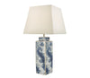 Dar Lighting LOY4223 Loyce Table Lamp Blue & Ceramic Base Only