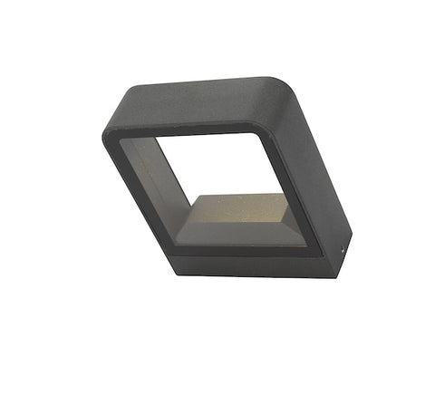 Dar Lighting MAL3239 Malone Wall Light Square Anthracite IP65 LED