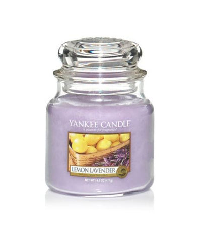 YANKEE CANDLE LEMON LAVENDER MEDIUM JAR  1073482E