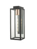 Dar Lighting NAX1522 Naxos Wall Light Black IP43