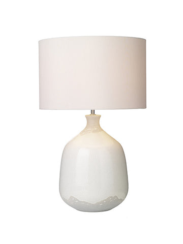 Dar Lighting NUS422 Nushrah Table Lamp Ceramic & White Base Only
