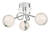 Dar Lighting NYM5350 Nyma 3lt Semi Flush Polished Chrome & Acrylic LED