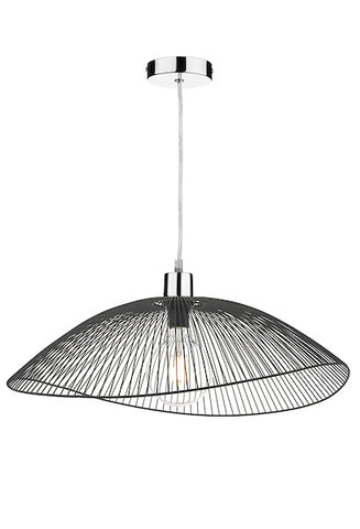 Dar Lighting ONZ1722 Onza Easy Fit Pendant Black Twin Pack