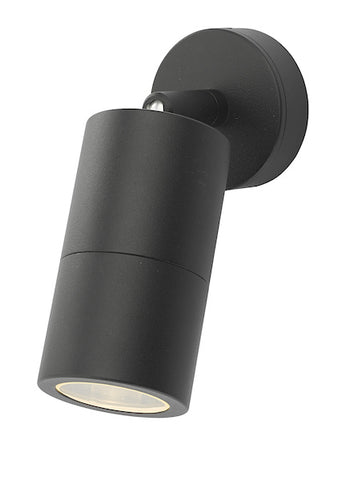 Dar Lighting ORT0722 Ortega 1 Light Wall Light Black IP65