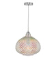 Dar Lighting ROI0155 Roisin Pendant Glass & Polished Chrome