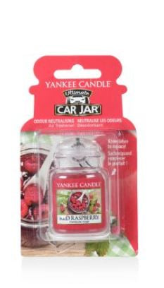 YANKEE CANDLE RED RASPBERRY ULTIMATE CAR JAR 1521592E