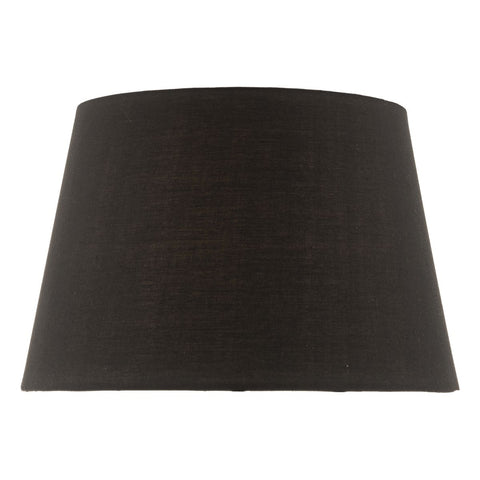 Dar Lighting SAF1422 36CM Black Cotton Tapered Drum Shade