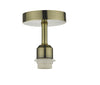 Dar Lighting SF0175 Accessory 1 Light Semi Flush Suspension Antique brass