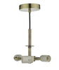 Dar Lighting SP0375 Accessory 3 Light Suspension Antique Brass