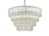 Dar Lighting TUV1308 Tuvalu 9lt Pendant Glass & Polished Chrome