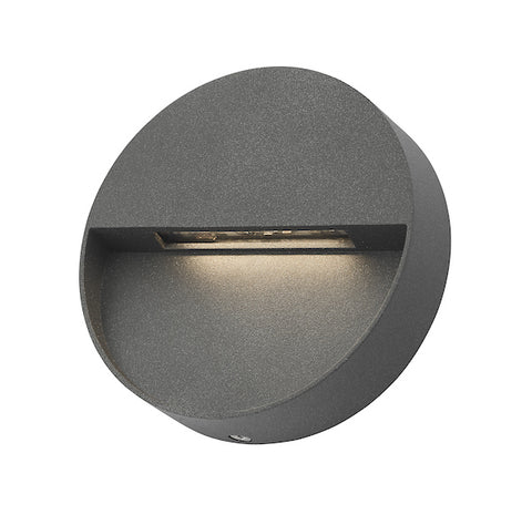 Dar Lighting UGO2139 Ugo 1 Light Wall Light Square Eyelid Anthracite IP65 LED