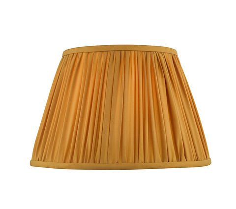 Dar Lighting ULY1626 Ulyana Pleated Shade 40cm Yellow Ochre