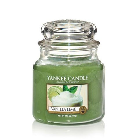 YANKEE CANDLE VANILLA LIME MEDIUM JAR 1107077E