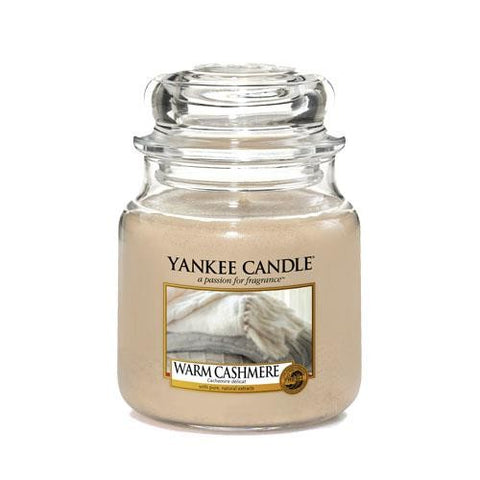 YANKEE CANDLE WARM CASHMERE MEDIUM JAR CANDLE 1556252E