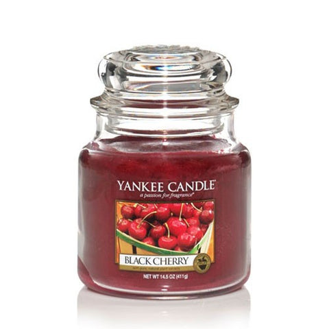 YANKEE CANDLE BLACK CHERRY MEDIUM JAR 1129752