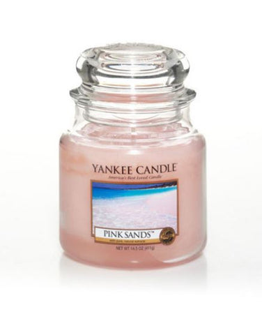 YANKEE CANDLE PINK SANDS MEDIUM JAR  1205340E