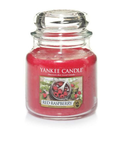 YANKEE CANDLE RED RASPBERRY MEDIUM JAR 1323187E