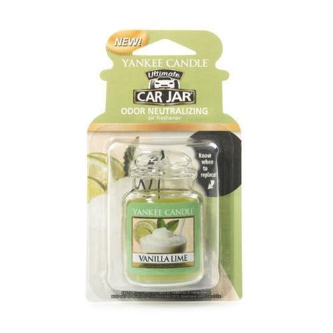 YANKEE CANDLE VANILLA LIME ULTIMATE CAR JAR 1220892E